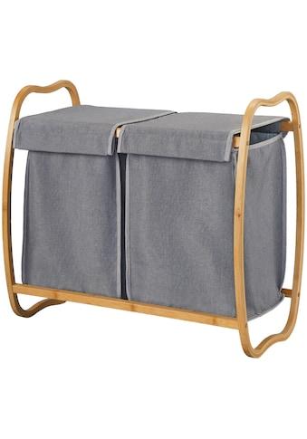 WELLTIME Wäschekorb »Costa Rica«, Doppel - Wäschebox, 70 cm breit, Bambus kaufen