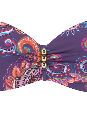 Vivance Bügel-Bandeau-Bikini, mit lilafarbenem Paisleyprint kaufen