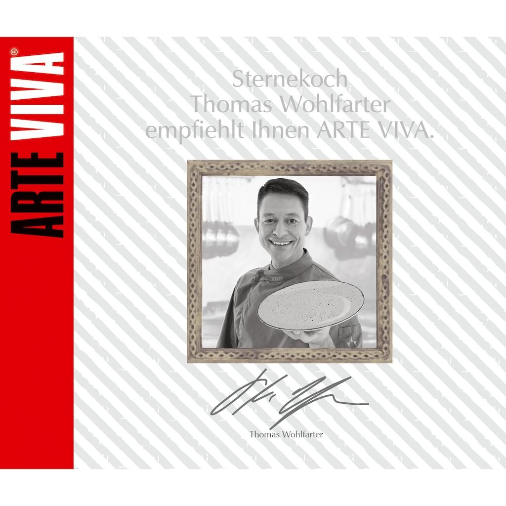 ARTE VIVA Kombiservice »Puro«, (Set, 16 tlg.), mit Pusteblumen-Dekor (Stempeldruck), vom Sternekoch Thomas Wohlfarter empfohlen