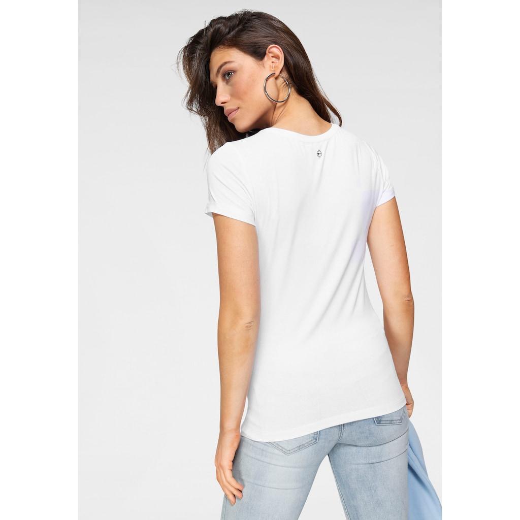 Tamaris T-Shirt, mit Fotoprint - NEUE KOLLEKTION