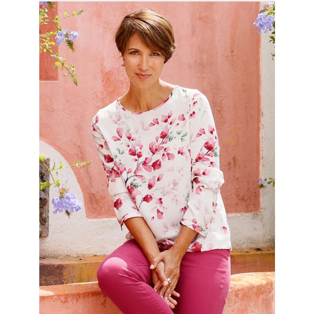 Paola Tunika, mit floralem Druck