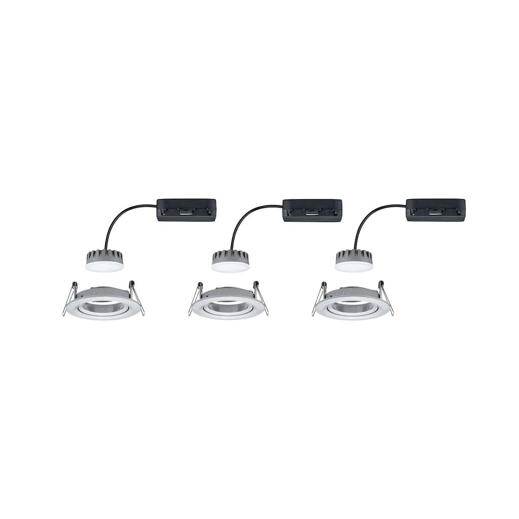 Paulmann LED Einbaustrahler »dimmbar IP23 rund Alu 6,8W Coin Slim schwenkbar«, 3 St., Warmweiß