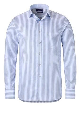 East Club London Langarmhemd mit klassischem Streifenmuster kaufen