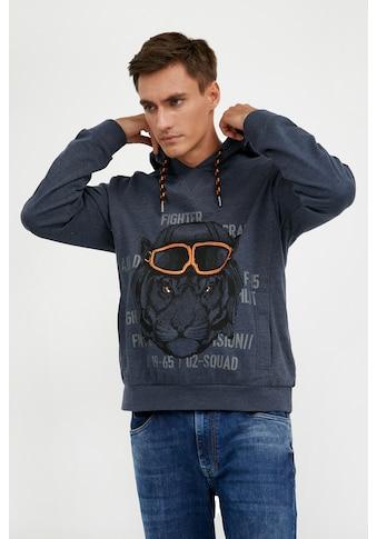 Finn Flare Kapuzensweatshirt, mit Tierprint kaufen