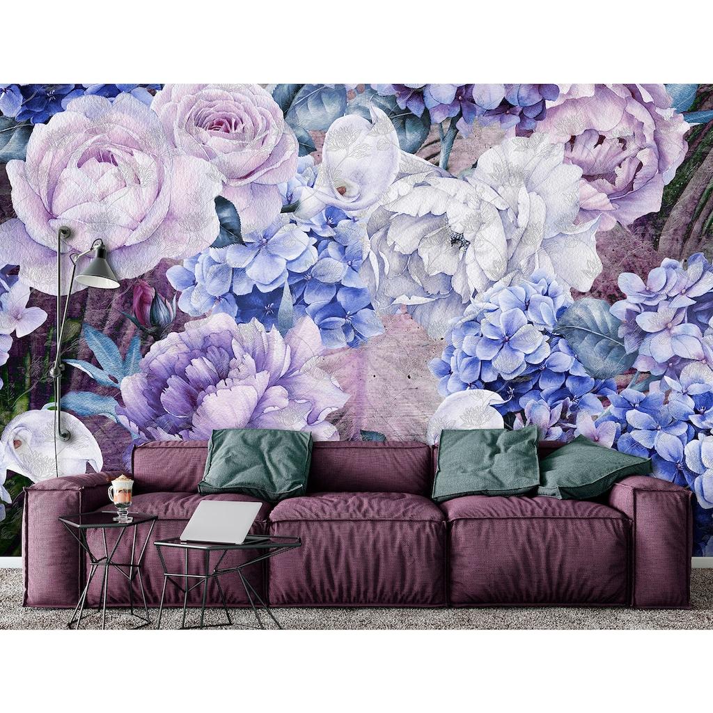 Consalnet Vliestapete »Blauer Blumen Mix«, floral