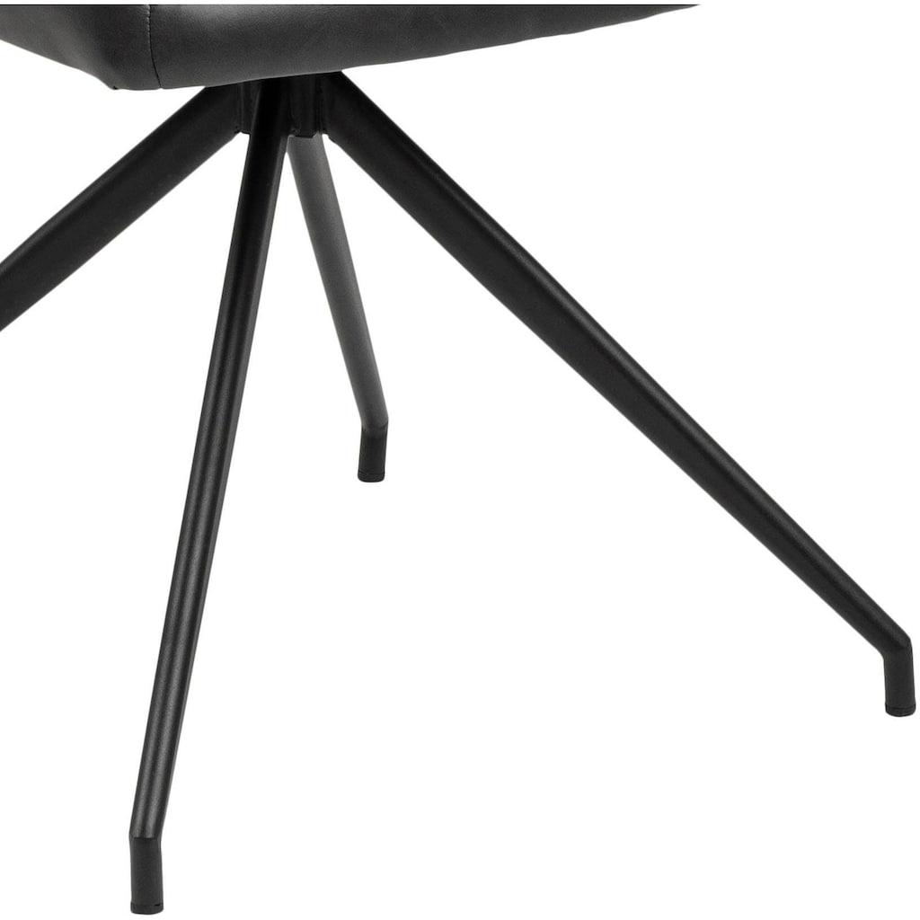 andas Drehstuhl »Nadine«, mit einer praktischen Drehfunktion, mit schönen Metallbeinen, Sitzhöhe 47 cm