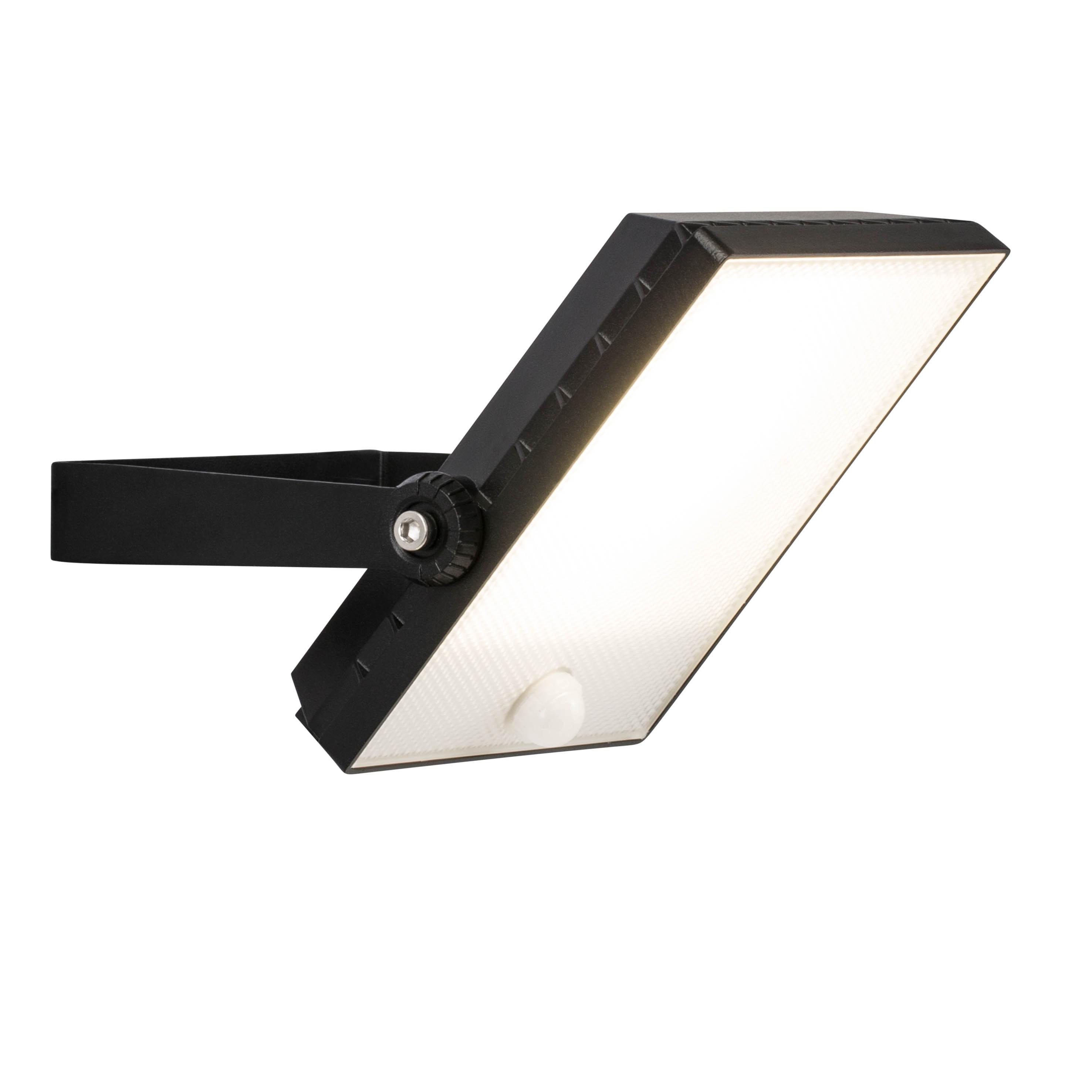 Brilliant Leuchten Dryden LED Außenwandstrahler 22cm Bewegungsmelder schwarz