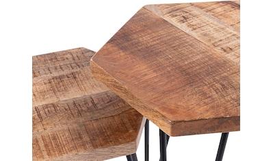 byLIVING Beistelltisch »Elea«, aus Massivholz, bestehend aus 2 Tischen kaufen
