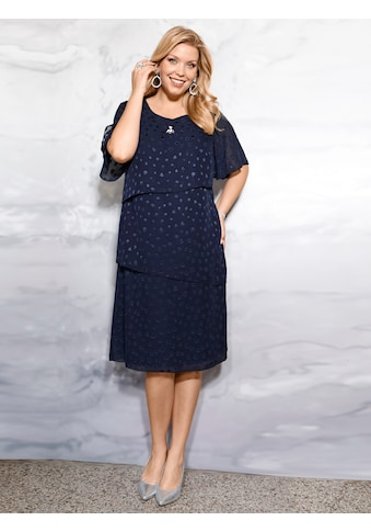 m. collection Kleid rundum mit glänzenden Punkten kaufen