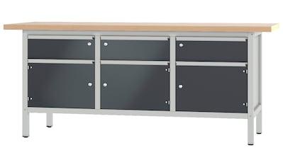 PADOR Werkbank »31 S 222/20 R«, B/T/H: 200x70x85,5 cm kaufen