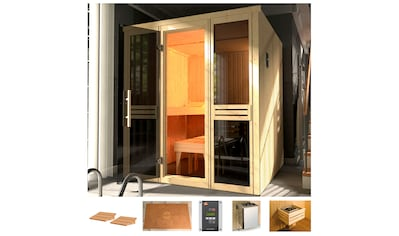 WEKA Sauna »Classic«, 177x194x199 cm, 7,5 kW Ofen mit ext. Steuerung, Fenster kaufen
