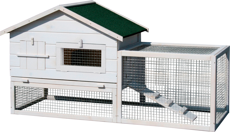 dobar kleintierstall bxtxh 155x60x86 cm mit freilaufgehege auf rechnung baur. Black Bedroom Furniture Sets. Home Design Ideas