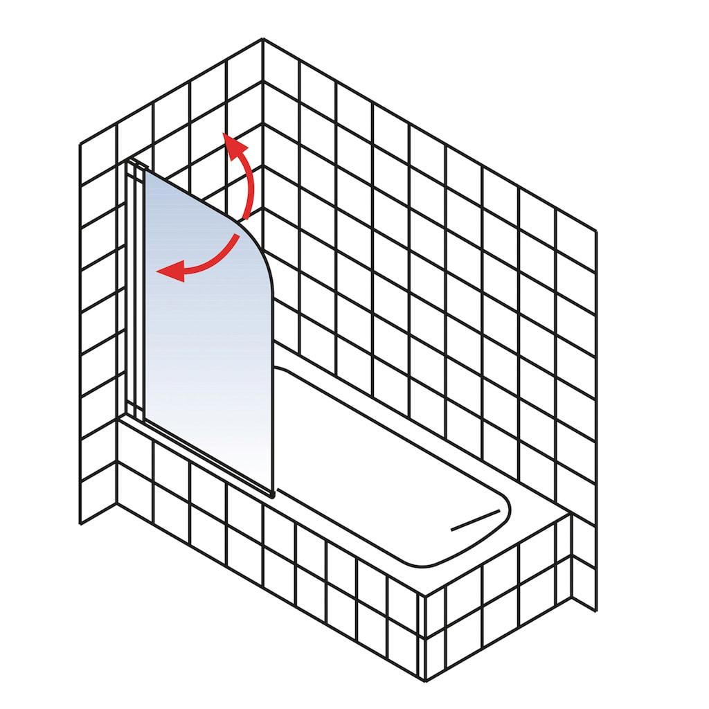 Schulte Badewannenfaltwand »Komfort«, BxH: 700 x 1300 mm, inkl. EKS