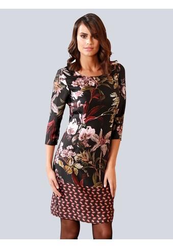 Alba Moda Kleid im ausdrucksstarken Blumenmuster allover kaufen
