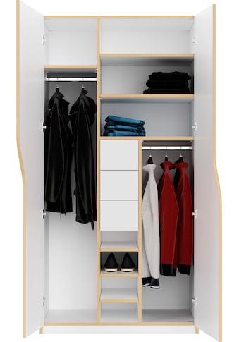 Müller SMALL LIVING Kleiderschrank »PLANE Ausstattung Nr. 2«, Inklusive 3... kaufen