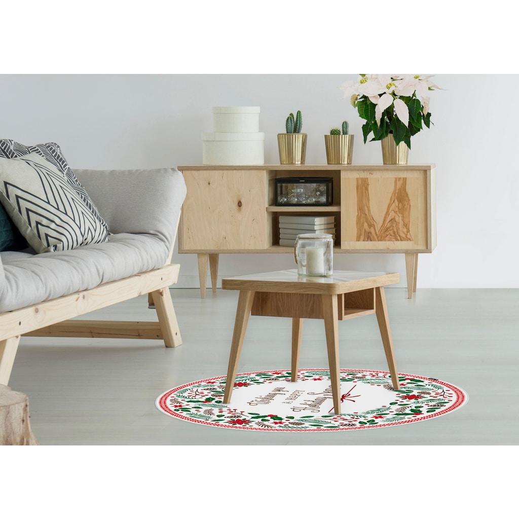 MySpotti Vinylteppich »Nicolas«, rund, 0 mm Höhe, wasserfest und statisch haftend