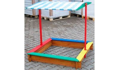 DOBAR Sandkasten , BxL: 120x120 cm, mit Dach kaufen