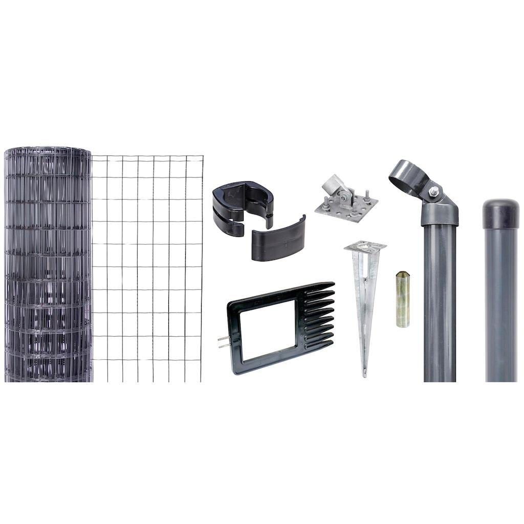 GAH Alberts Schweissgitter »Fix-Clip Pro®«, 100 cm hoch, 25 m, anthrazit beschichtet, mit Bodenhülsen