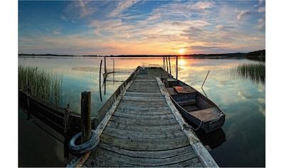 Wall-Art Vliestapete »Sunset at the lake« kaufen