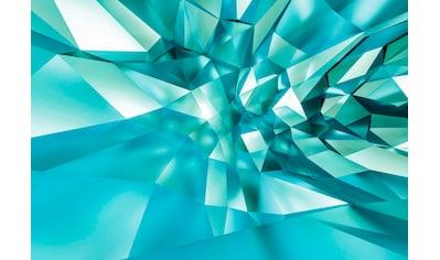 Komar Fototapete »3D Crystal Cave«, bedruckt-3D-Optik-Kunst, ausgezeichnet lichtbeständig kaufen