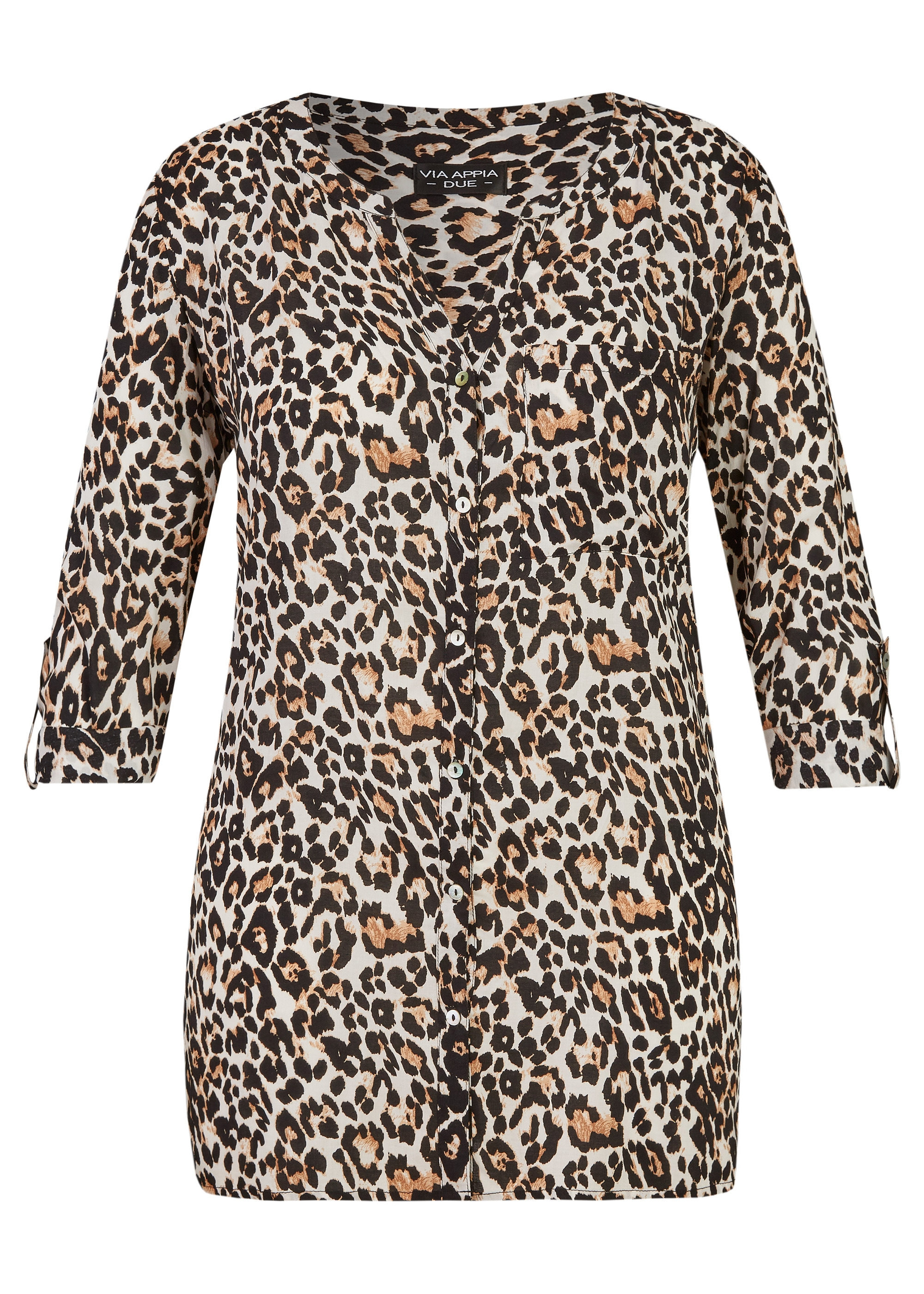 VIA APPIA DUE Stylische Bluse mit Animal-Print