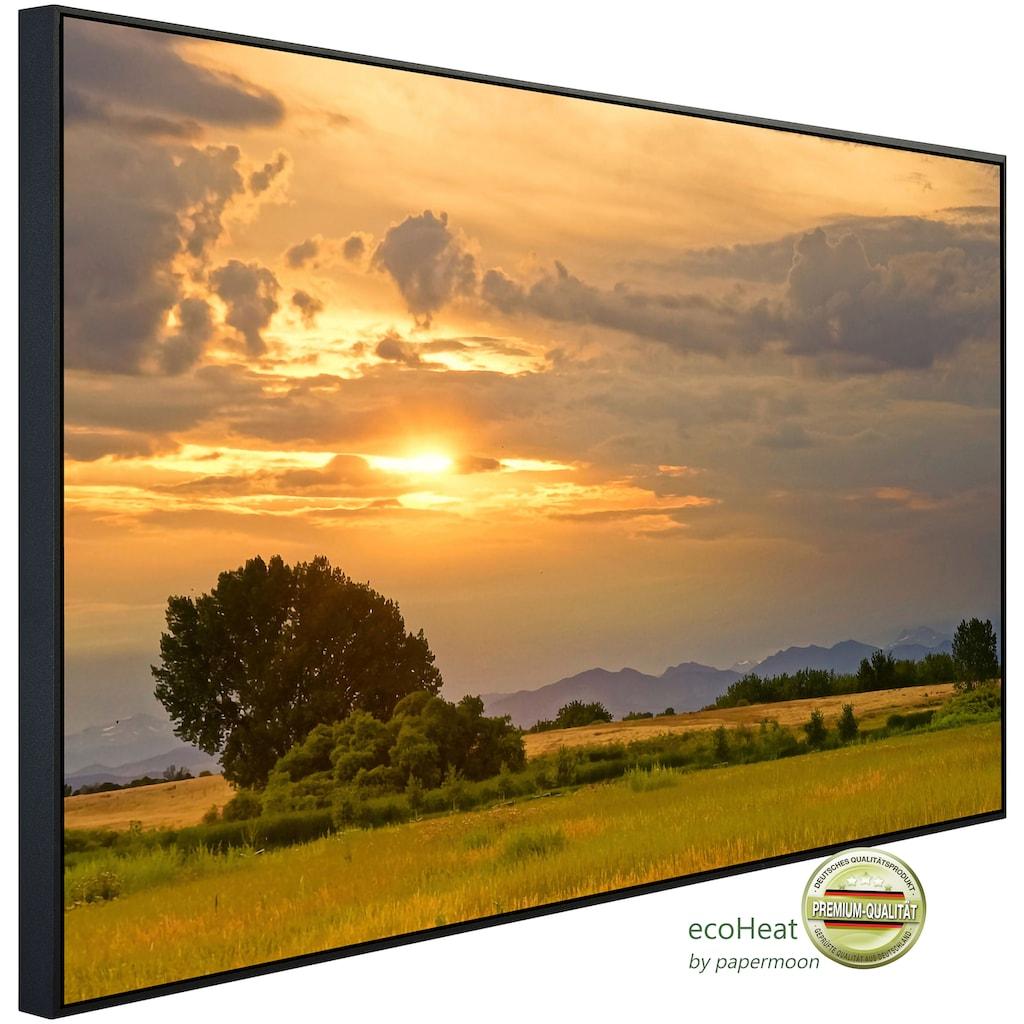 Papermoon Infrarotheizung »Sonnenuntergangslandschaft«, sehr angenehme Strahlungswärme