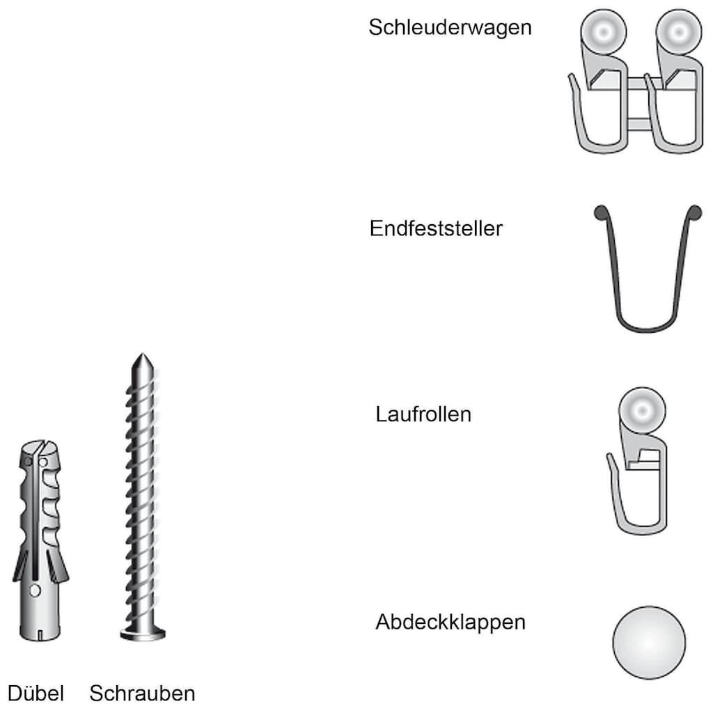 Liedeco Zubehör-Set »für 2-3-läufige Gardinenschienen«