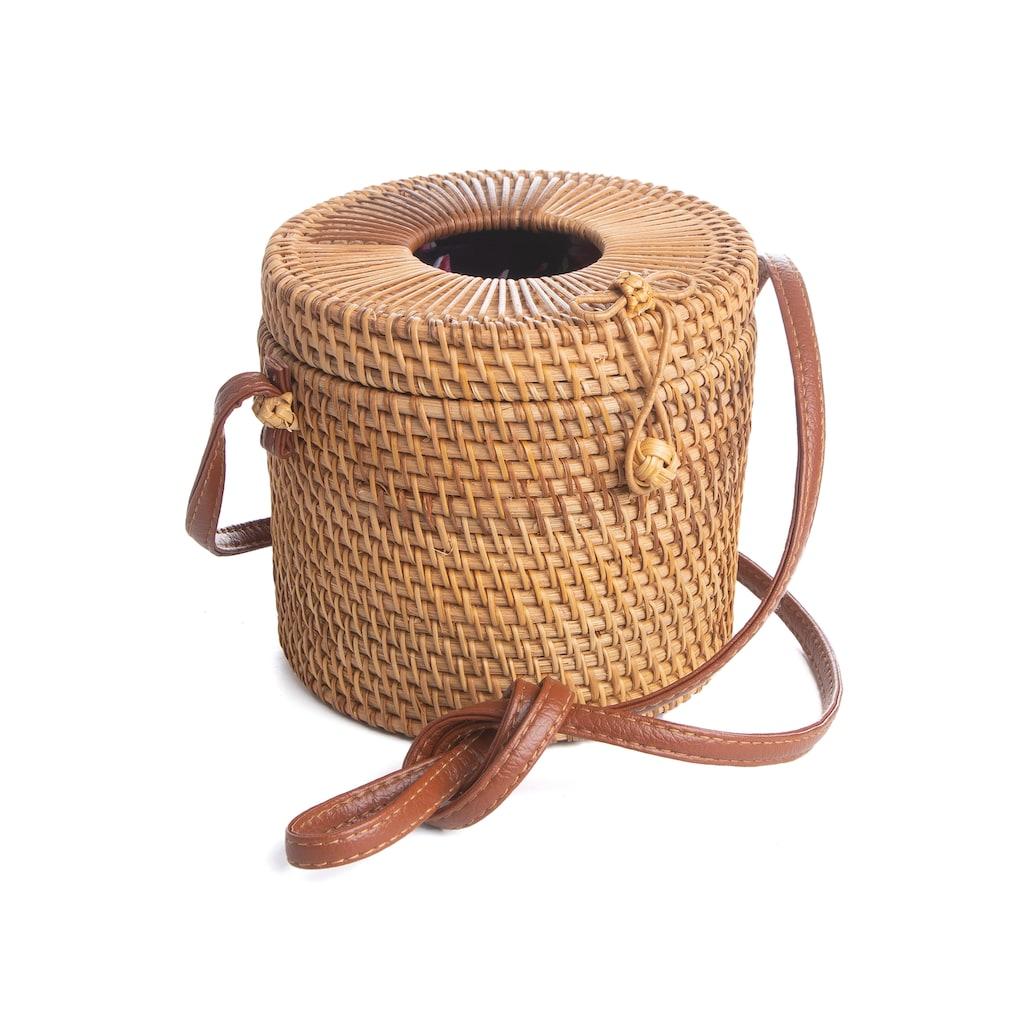 CASSANDRA Korbtasche »Bali Bag«, in ausgefallener Zylinderform
