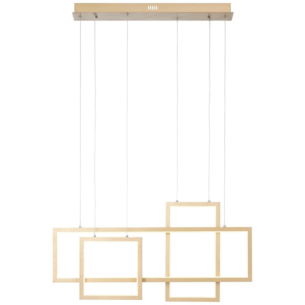 Brilliant Leuchten Deckenleuchten, Gwyn LED Pendelleuchte 80cm alu/gold