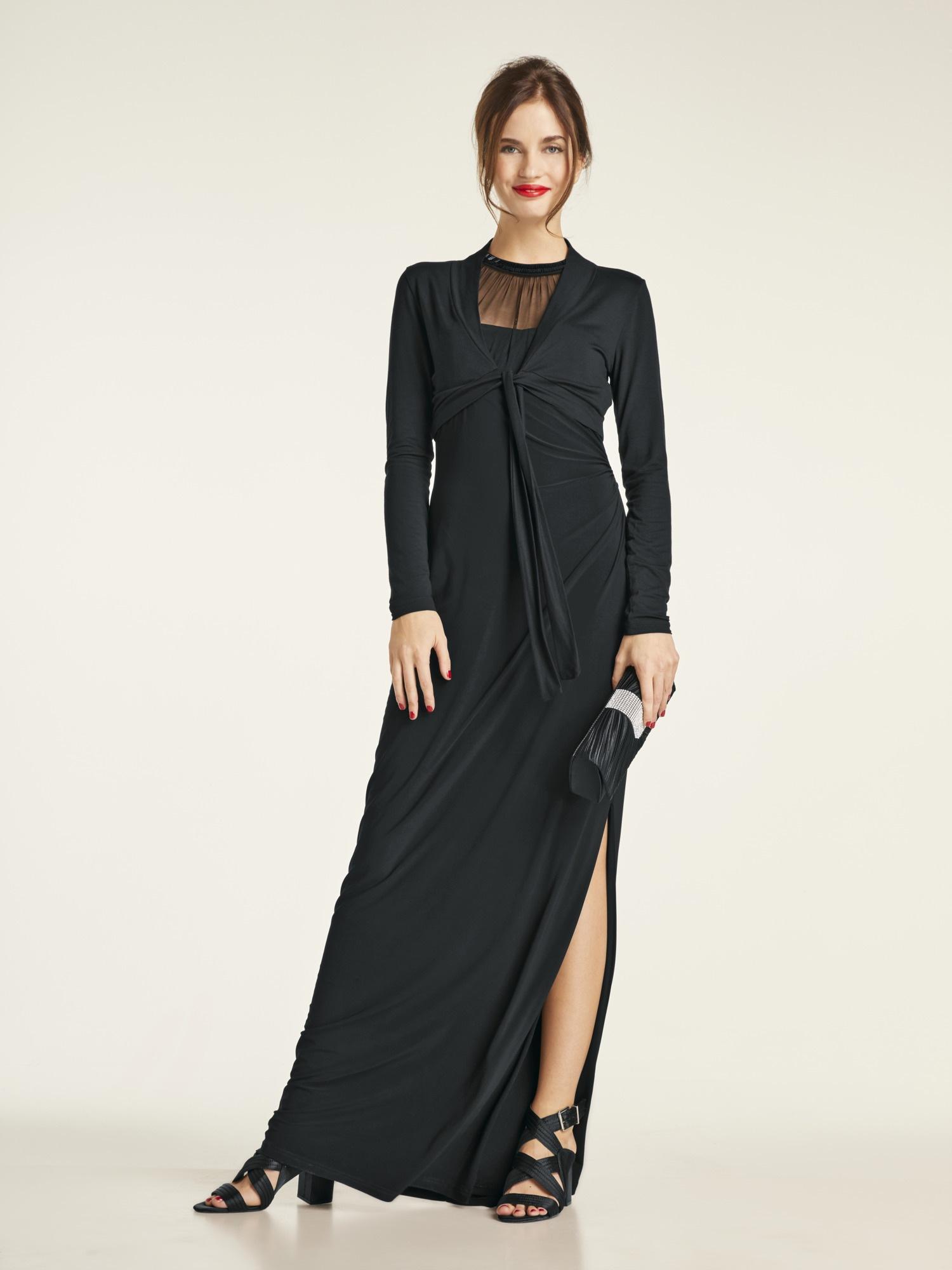 heine TIMELESS Abendkleid mit hohem Schlitz   Bekleidung > Kleider > Abendkleider   Elasthan   Heine Timeless
