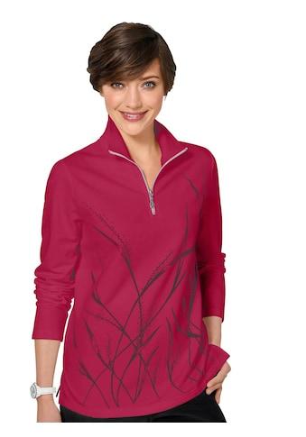 Classic Basics Winter - Shirt mit einem zarten Gräsermotiv bedruckt kaufen