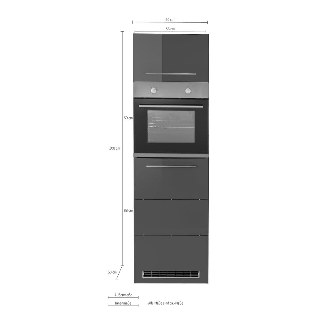 HELD MÖBEL Backofenumbauschrank, 60 cm breit, 200 cm hoch, für autarken Backofen
