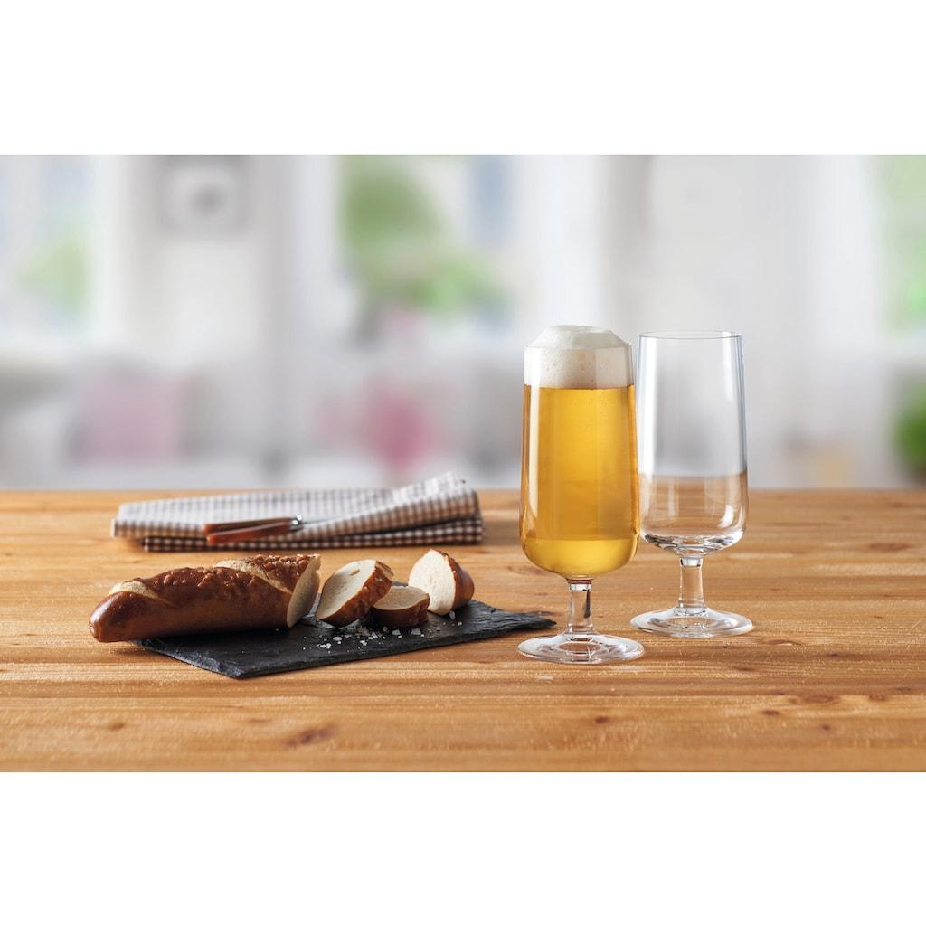 montana-Glas Bierglas »:now«, (Set, 6 tlg.), 300 ml, Quotanglas, spülmaschinenfest, 6-teilig