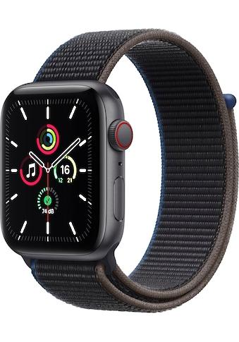 Apple Watch »SE GPS + Cellular, Aluminiumgehäuse mit Sport Loop 44mm« (, inkl. Ladestation (magnetisches Ladekabel) kaufen