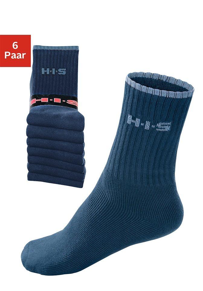 HIS Sportsocken (6 Paar) | Sportbekleidung > Funktionswäsche | Blau | H.I.S