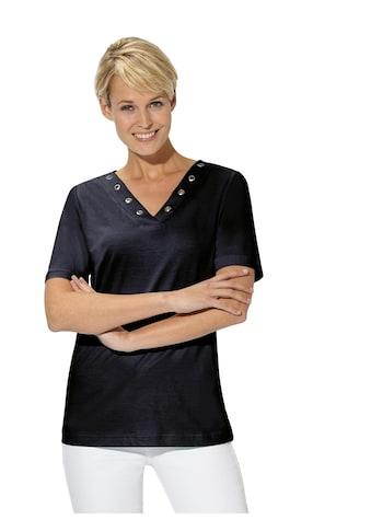Casual Looks Shirt mit hübscher Ösenverzierung kaufen