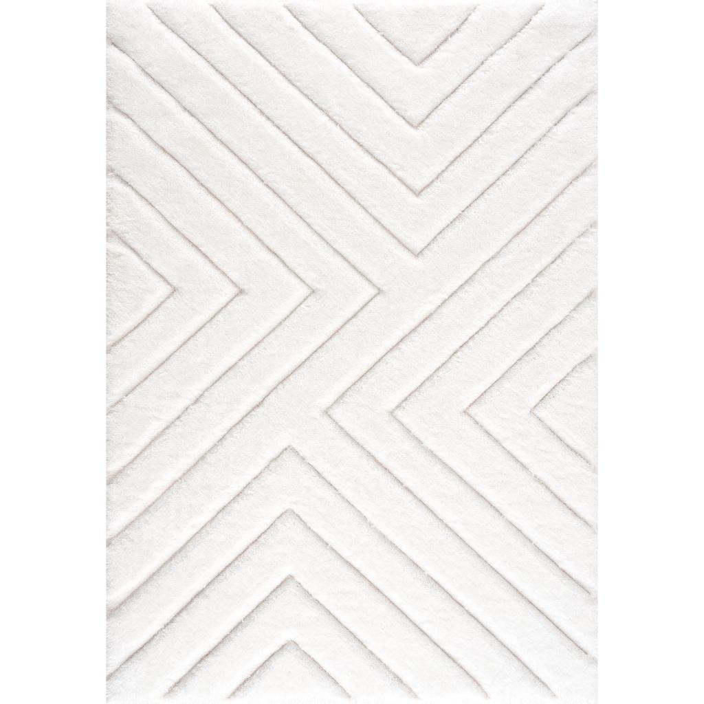 andas Hochflor-Teppich »Fiori«, rechteckig, 43 mm Höhe, Pastellfarben, Wohnzimmer