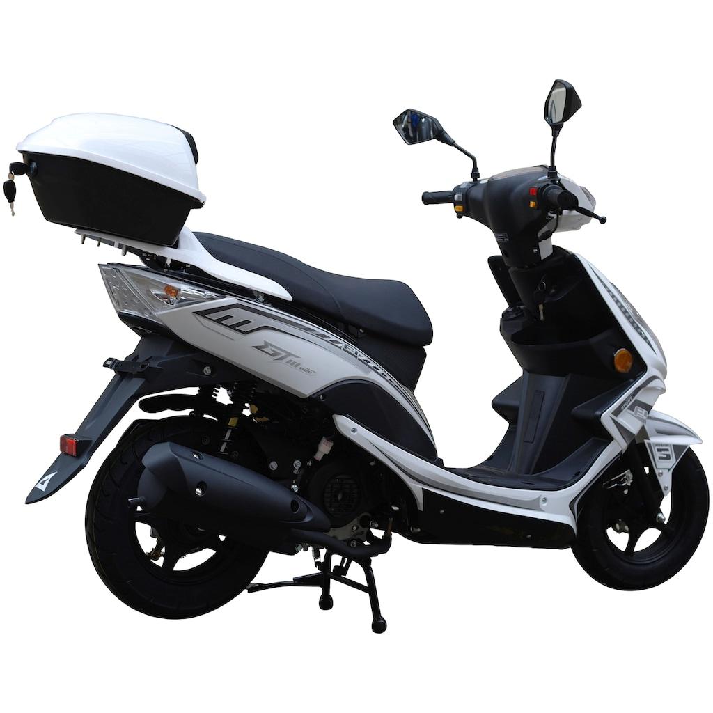 GT UNION Mofaroller »GT3«, 50 cm³, 25 km/h, Euro 4, 2,5 PS, (Set), inkl. Topcase