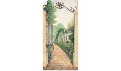 Artland Wandbild »Fresco - Blick durchs Gartentor«, Garten, (1 St.), in vielen Größen... kaufen