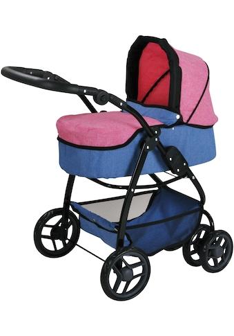 Knorrtoys® Puppenwagen »Coco - jeans blue«, 2-in-1 kaufen