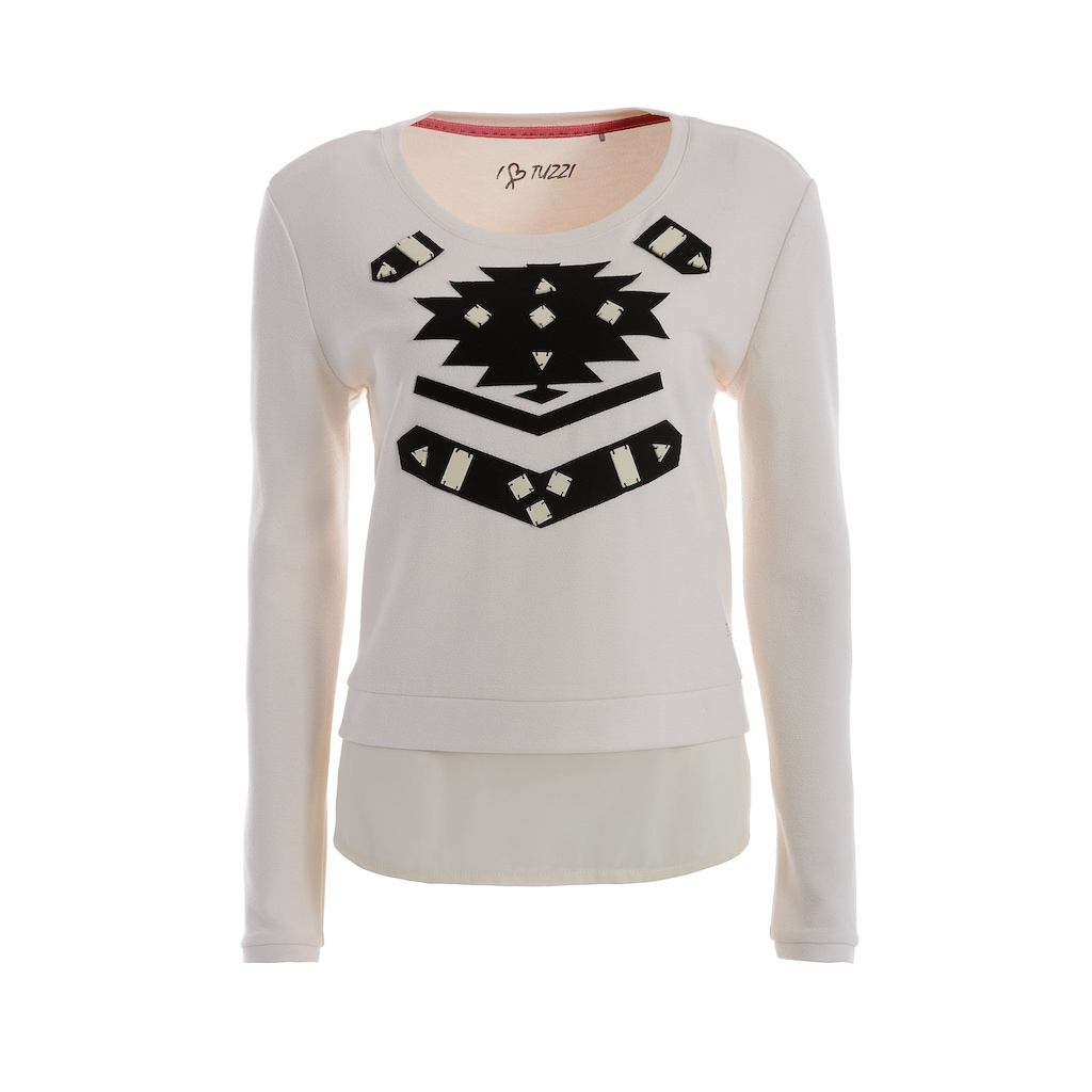 TUZZI Patch Sweatshirt mitdekorativen Ornamenten