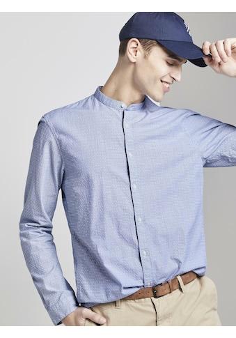 TOM TAILOR Denim Langarmhemd »Gemustertes Hemd« kaufen