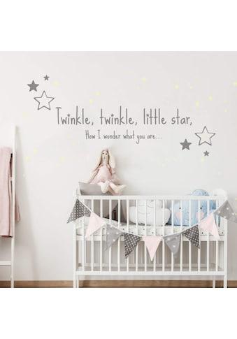 Wall - Art Wandtattoo »Twinkle little star Leuchtsterne« (1 Stück) kaufen