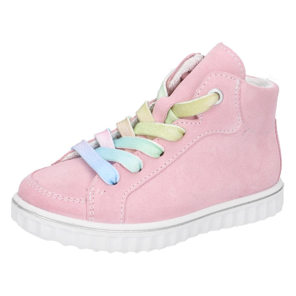 Ricosta Sneaker »Joyce mit Weiten Messsystem: mittel«, mit regenbogenfarbenen Schnürsenkeln