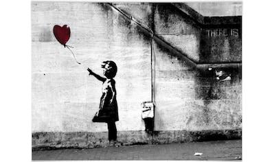 Wall-Art Poster »Graffiti Bilder Girl with balloon«, Menschen, (1 St.), Poster, Wandbild, Bild, Wandposter kaufen