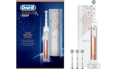 Oral B Elektrische Zahnbürste Genius X 20000 Luxe Edition, Aufsteckbürsten: 4 Stk. kaufen