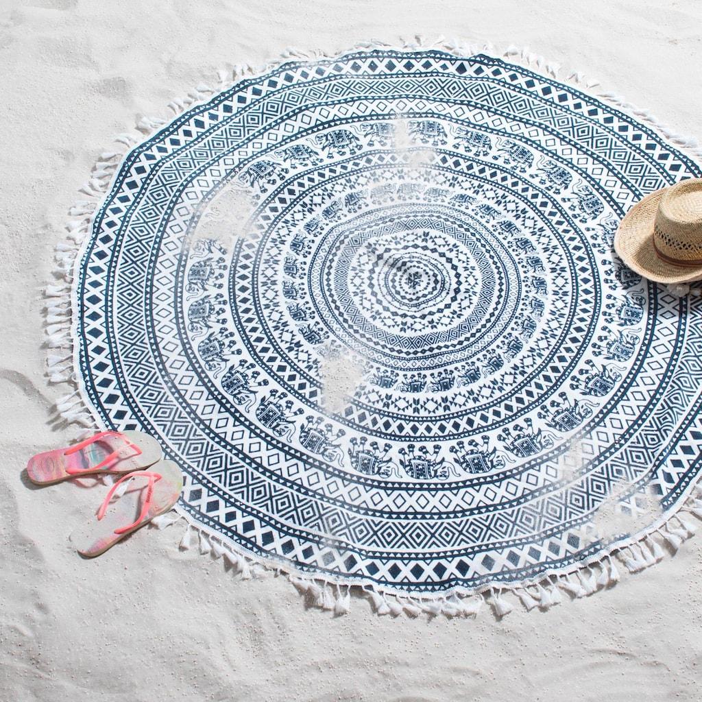 Seahorse Strandtuch »Goa Indian«, (1 St.), mit ethnischem Druck