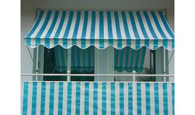 Angerer Freizeitmöbel Balkonsichtschutz, Meterware, blau/weiß, H: 75 cm kaufen