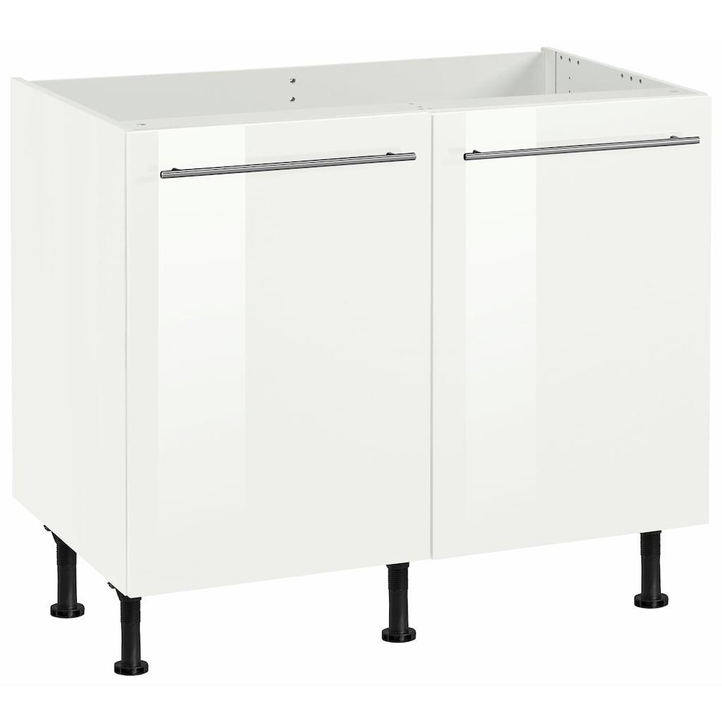 OPTIFIT Spülenschrank »Bern«, 100 cm breit, mit 2 Türen, mit höhenverstellbaren Füßen, mit Metallgriffen