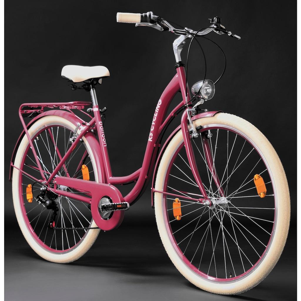 KS Cycling Cityrad »Balloon«, 6 Gang, Shimano, Tourney RD-TZ 50 Schaltwerk, Kettenschaltung